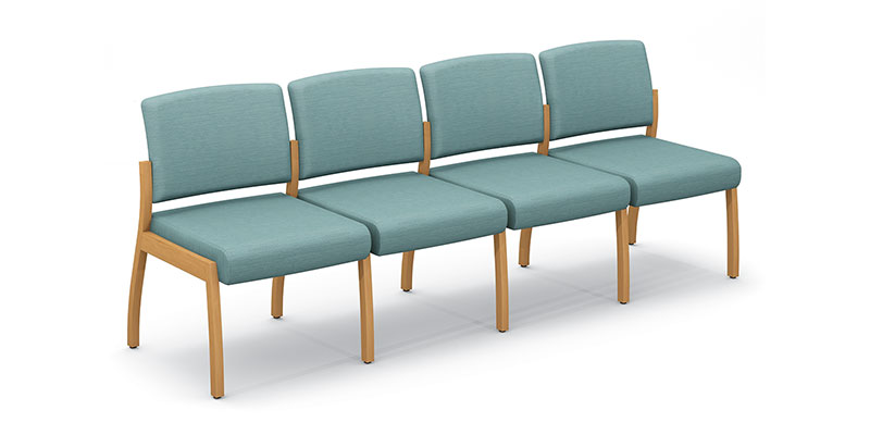 Axxess 980-4 four armless chairs ganged